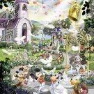 D-1000-319 Minnie Mickey Mouse Church Wedding (Japan Tenyo Disney Jigsaw Puzzle)