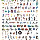 D-1000-380 Disney Pixar Characters Collection (Japan Tenyo Disney Jigsaw Puzzle)