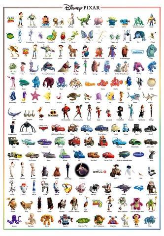 D-1000-380 Disney Pixar Characters Collection (Japan Tenyo Disney Jigsaw Puzzle)