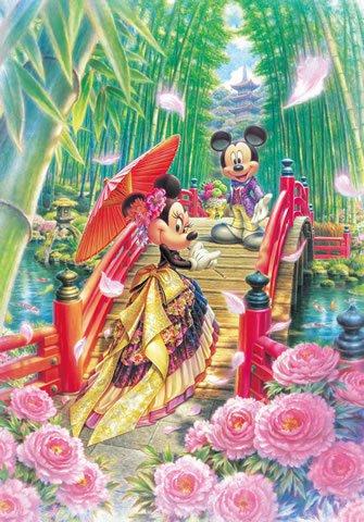 D-1000-451 Mickey Minnie Mouse Modern Wedding (Japan Tenyo Disney Jigsaw Puzzle)