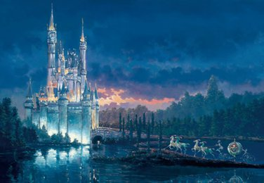 D-1000-438 Disney Castle Moment Away (Japan Tenyo Disney Jigsaw Puzzle)
