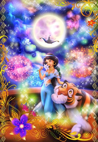 D-1000-450 Disney Princess Jasmine Aladdin Riding the magic of love (Tenyo)