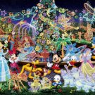D-1000-329 Disney All Characters Night Party (Japan Tenyo Disney Jigsaw Puzzle)