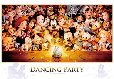 D-2000-614 Dancing Party Minnie Mickey Mouse (Japan Tenyo Disney Jigsaw Puzzle)