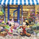 DW-1000-393 Mickey Minnie Flowers Shop (Japan Tenyo Disney Jigsaw Puzzle)