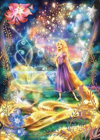 D-500-442 Disney Princess Rapunzel Fantastical Art Collection (Tenyo Disney)