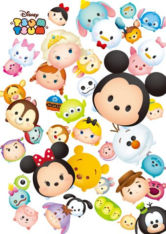 DPG-266-567 Disney TSUM TSUM Collection (Japan Tenyo Disney Jigsaw Puzzle)