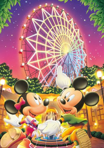 DSG-266-745 Disney Mickey Mouse and Minnie Mouse (Tenyo Disney Jigsaw Puzzle)