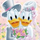 D-108-743 Disney Donald Duck and Daisy Duck Happy Wedding (Tenyo Jigsaw Puzzle)