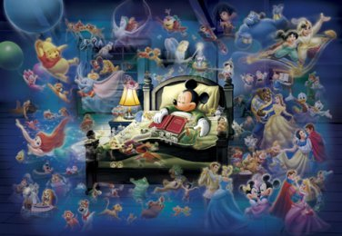 D-108-997 Disney Mickey Mouse in a Dream (Japan Tenyo Disney Jigsaw Puzzle)