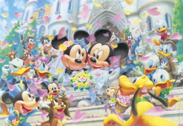 D-108-994 Minnie Mickey Mouse Church Wedding (Japan Tenyo Disney Jigsaw Puzzle)