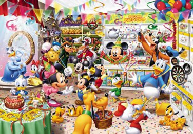D-300-216 Disney Mickey Minnie Mouse Party Shop (Tenyo Disney Jigsaw Puzzle)