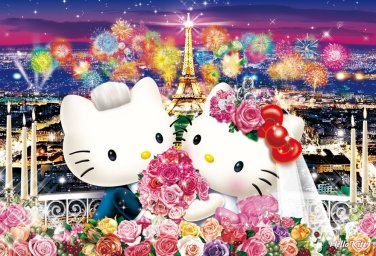 B-31-420 Hello Kitty Wedding in Paris (Japan Beverly Sanrio Jigsaw Puzzle)