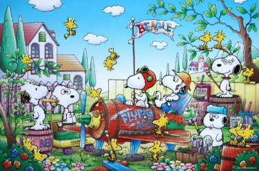 E-11-393 Peanuts Snoopy and Woodstock - Flying Ace (Japan Epoch Jigsaw Puzzle)
