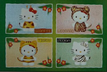 Y-03-517 Hello Kitty Giraffe Leopard Tiger and Zebra (Yanoman Jigsaw Puzzle)