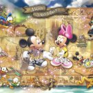 D-1000-348 Bon Voyage Minnie and Mickey Mouse (Japan Tenyo Disney Jigsaw Puzzle)