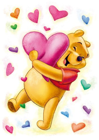 D-108-719 Disney Winnie the Pooh Hug Heart (Japan Tenyo Disney Jigsaw Puzzle)