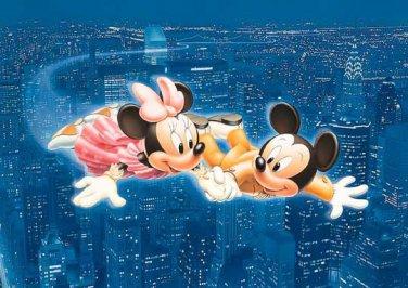 D-108-837 New York Night Flying Minnie Mickey (Japan Tenyo Disney Jigsaw Puzzle)