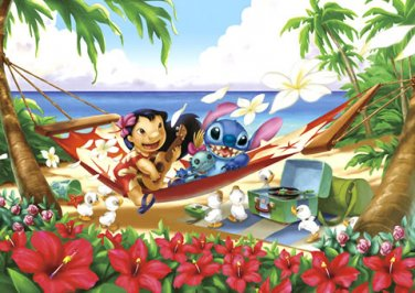 D-300-217 Disney Lilo and Stitch Collection (Japan Tenyo Disney Jigsaw Puzzle)
