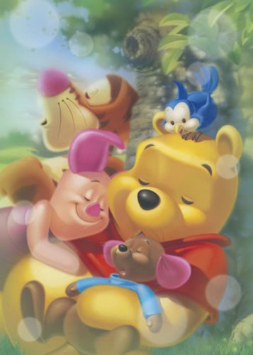 D-500-382 Winnie the Pooh and Piglet Dreams (Japan Tenyo Disney Jigsaw Puzzle)
