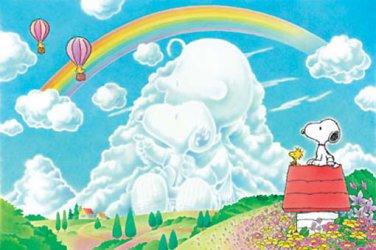 AP-10-168 Peanuts Snoopy and Woodstock - Rainbow (Japan Apollo-sha Jigsaw Puzzle
