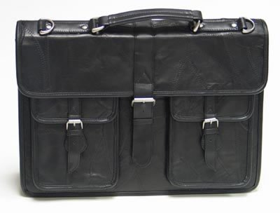 Embassy Trendy Black Genuine Leather Executive Attache