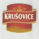BREWERY KRUSOVICE CZECH REPUBLIC ADVERTISING BEER MAT COASTER