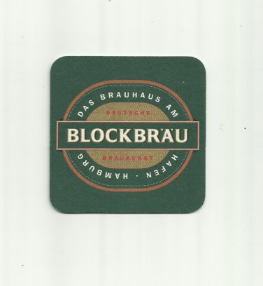 GERMAN MICRO BREWERY BLOCKBRAU HAMBURG BEER MAT COASTER