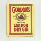 GORDONS SPECIAL LONDON DRY GIN ADVERTISING MAT COASTER LONDON ENGLAND