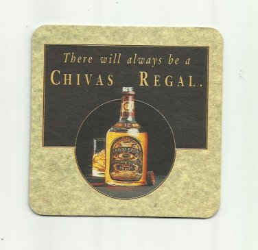 CHIVAS REGAL BLENDED SCOTCH WHISKY ADVERTISING MAT COASTER