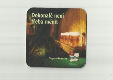 PILSNER URQUELL BEER CZECH BEER ADVERTISING BEER MAT COASTER