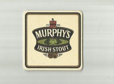 MURPHY'S IRISH STOUT CORK IRELAND ADVERTISING BEER MAT COASTER