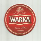 WARKA 1478 POLISH ADVERTISING BEER MAT COASTER