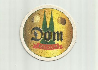 DOM KOLSCH GERMAN ADVERTISING BEER MAT COASTER