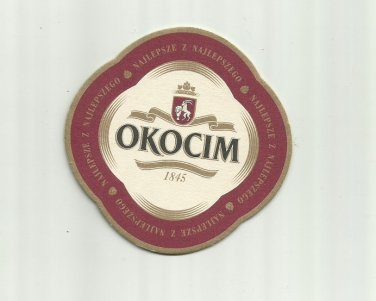 OKOCIM 1845 POLISH ADVERTISING BEER MAT COASTER