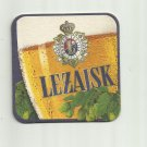 LEZAJSK BEER POLISH ADVERTISING BEER MAT COASTER