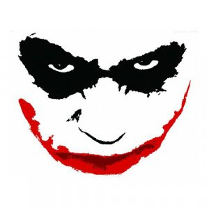 The JOKER Wall Graphic BIG Re-usable HOT! Heath Ledger