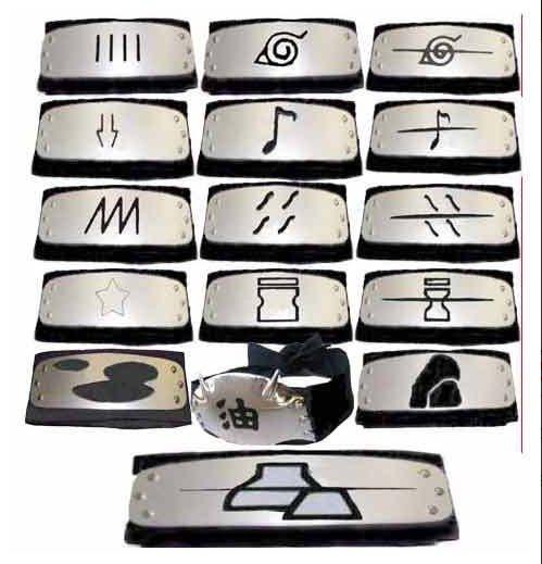 Naruto Headband COLLECTOR Set of 16 !!!USA Seller! GIFT!