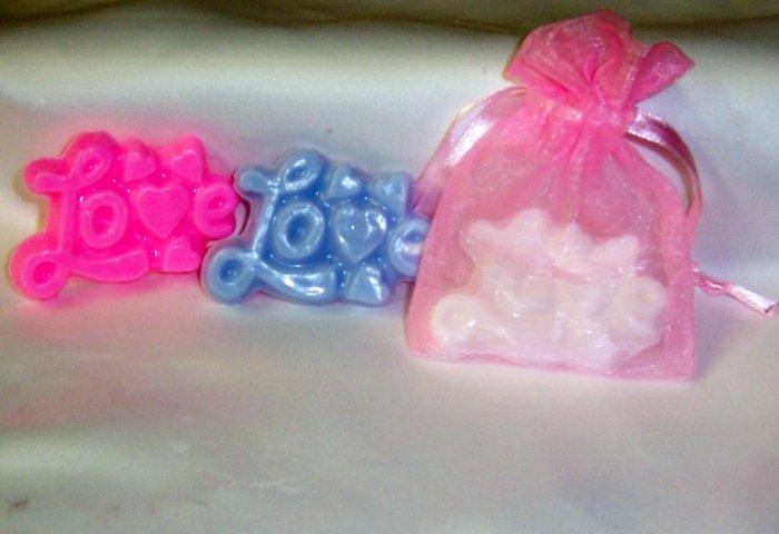 Soap Bridal Wedding Baby Shower Favors Love Script Soap Favors Free Ship