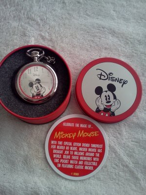 Mickey Mouse Collectible Pocket Watch by Avon