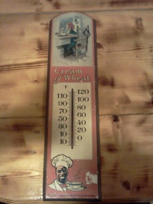 Vintage Cream of Wheats Sign - Themometer No. 1417