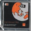 ORANGE CALL ABROAD UK PREPAID GSM  SIM CARD