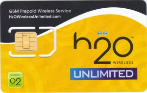 H2O Pure unlimited gsm sim card starter kit with $40 refill pin