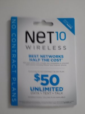 NET10 UNLIMITED PREPAID GSM SIM CARD