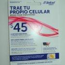 4 Telcel America GSM sim cards
