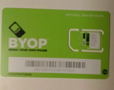 Simple Mobile GSM Unlimited dual cut sim card activated with $50 plan