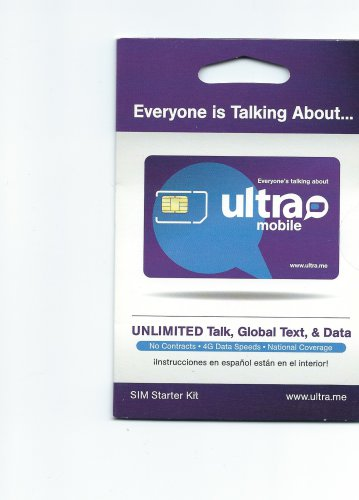 Ultra Mobile GSM standard sim card  T-mobile network