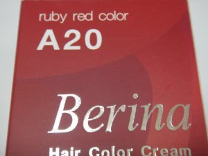 Permanent Hair Dye Berina Ruby Red Color