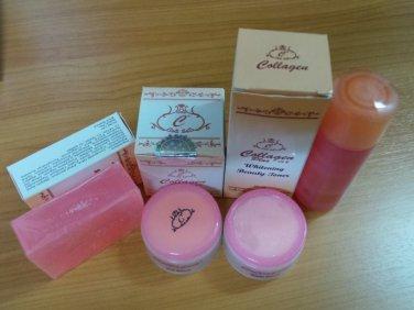 Collagen Plus Vitamin E Cream, Toner and Soap