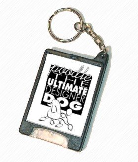 Poodle - Ultimate Designer Dog - Flashlight Keychain